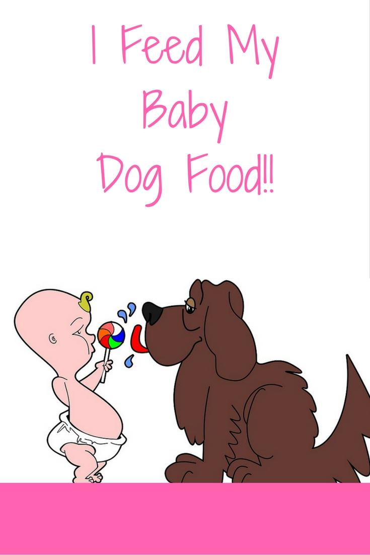 Cartoon baby and cartoon dog licking a lollipop
