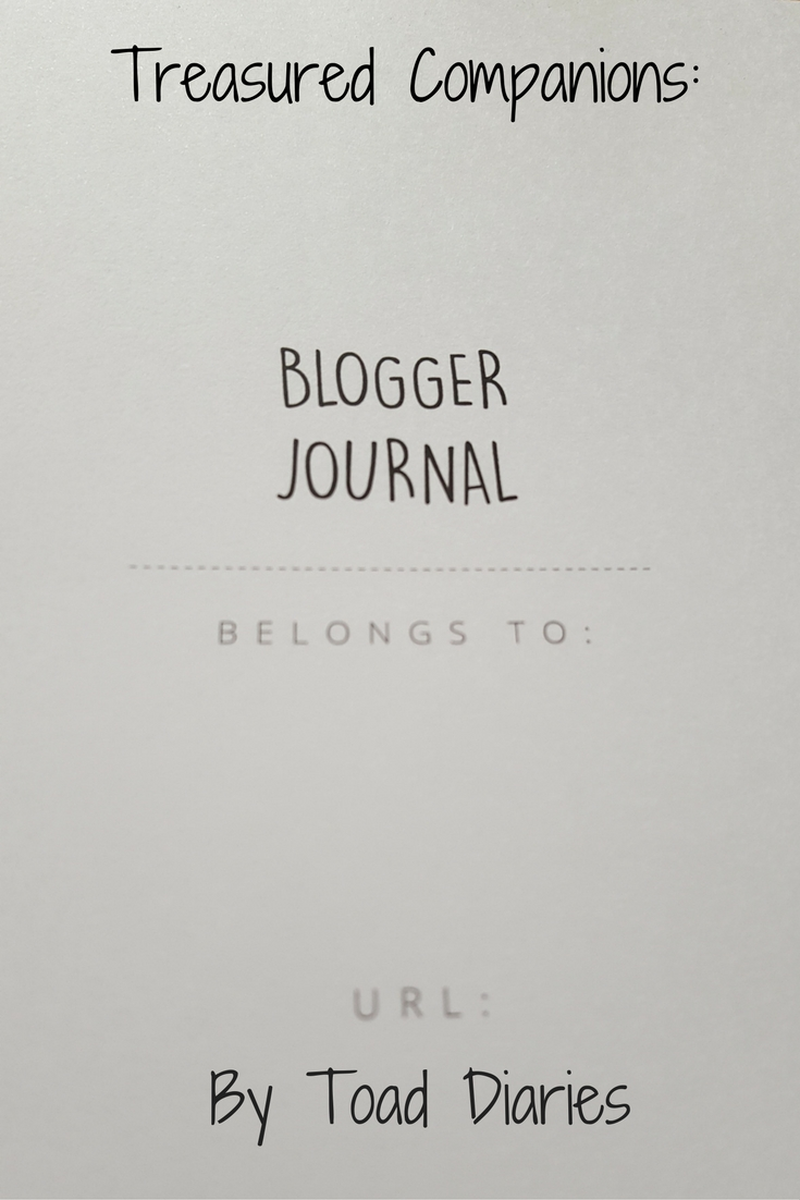 page of a blogger journal