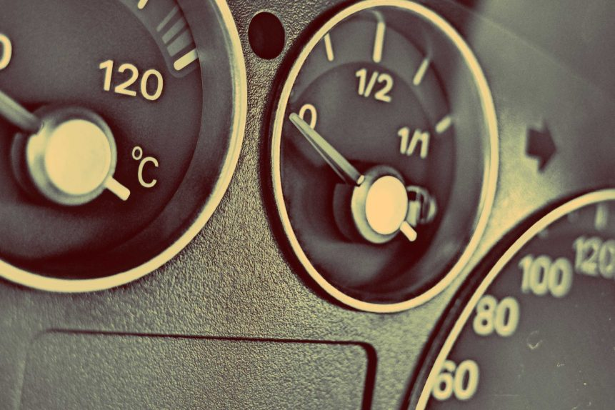 speed dials of a car