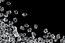 diamonds on a black back drop