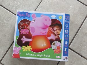 Peppa pig inflatable night light in its box