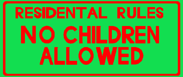 no children allowed sign