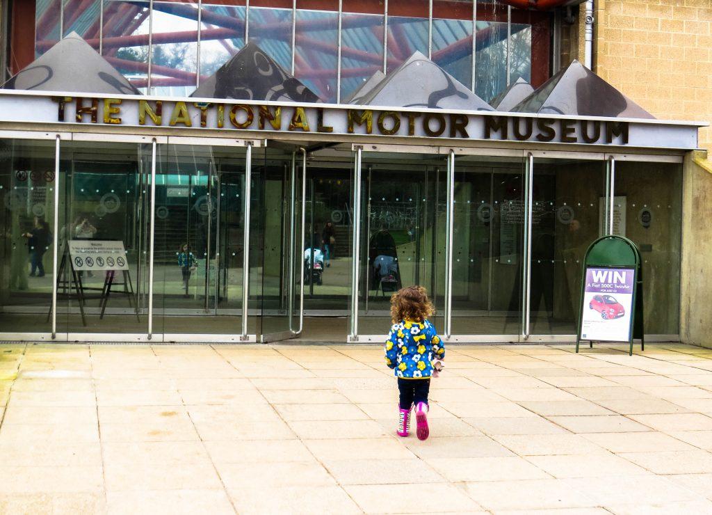 beaulieu motor museum front with alyssa