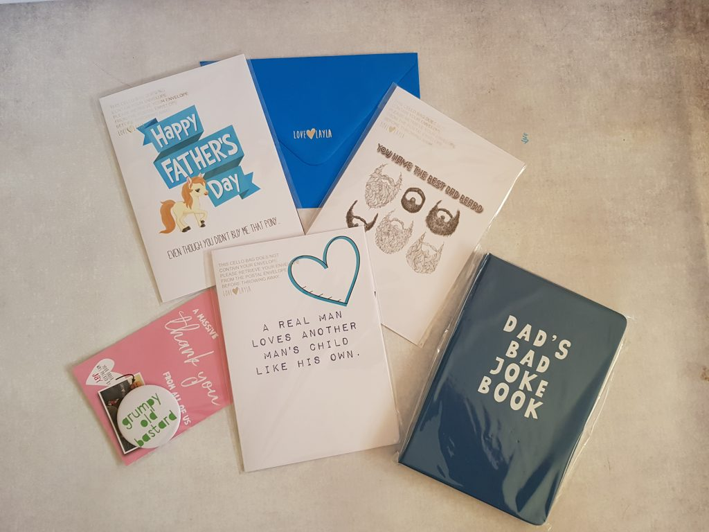 layla designs cards and notebook